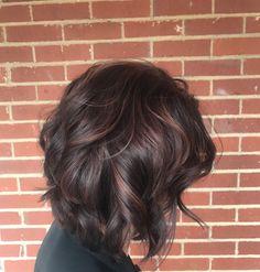 Violet brown hair. Plum lowlights. Fall ideas for brown hair