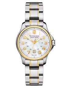 Victorinox Swiss Army Watch, Women's Two-Tone Stainless Steel Bracelet 241364