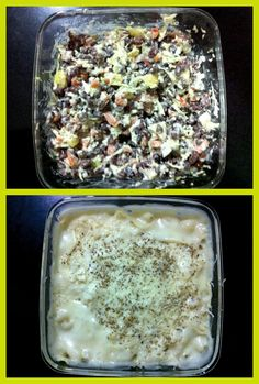 Healthy pasta n cheesy baked Marconi
