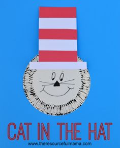 Paper Plate Dr Seuss Cat in the Hat Craft - The Resourceful Mama