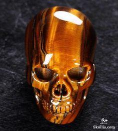 ☆ Tiger Iron Eye Crystal Skull ☆