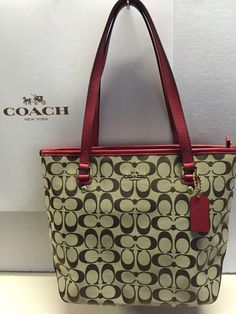 Coach G05Q-5179 Holiday Patchwork Tote Handbag Leather Suede ...