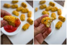 Skinny Baked Cauliflower Tots | Gimme Delicious