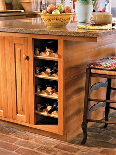 wine rack in cabinet via wine tack accessory kit & How to Make a Wine Rack for a Small Cabinet | Dream Kitchen ...