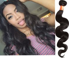 US Local Fashion Black Body Wave Real Human Hair Extensions 100g/Bundle Wefts #HairExtension