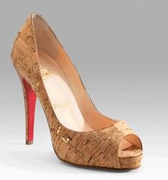 Christian Louboutin in cork.  Darling.  Me Want.