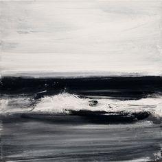 John Virtue :Norfolk No. 63, 2010  North Sea Paintings and Monotypes