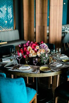 Colorful and intimate rehearsal dinner at our restaurants.
