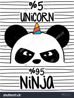 Find Cute Pandaninja Panda Unicorn stock images in HD and millions of other royalty-free stock photos, illustrations and vectors in the Shutterstock collection. Hipster Drawings, Animal Drawings, Art Drawings, Iphone Wallpaper Black, Wallpaper Backgrounds, Panda Wallpapers, Funny Wallpapers, Panda Mignon, Ninja