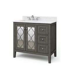 allen + roth Everdene Grey Single Sink Bathroom Vanity with Carrera White Engineered Stone Top best quality for you. Bathroom Cabinets Lowes, Lowes Bathroom Vanity, Vintage Bathroom Vanities, Shiplap Bathroom, White Vanity Bathroom, Basement Bathroom, Gray Vanity, Bathroom Fixtures, Single Sink Bathroom Vanity