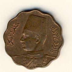 Egypt 1943 Farouk 5 milliemes UNC