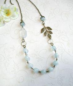 Blue jade Halskette Vintage-Stil Hütte schicken