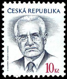 Stamp: Václav Klaus (*1941), president (Czech Republic) (Definitive Issues - President Václav Klaus) Mi:CZ 554,Sn:CZ 3381,Yt:CZ 503,Sg:CZ 542,AFA:CZ 555,WAD:CZ016.08,POF:CZ 555 Czech Republic, Presidents, Poster, Fictional Characters, Stamps, Seals, Europe, Historia, Hungary