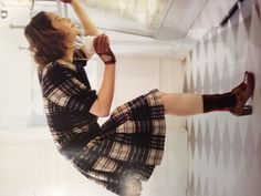 Clarks shoe ad. Love the outfit!