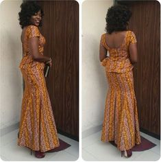 Get super trendy with these jaw-dropping Ankara styles! How cool is it to find a selection of cleverly designed Ankara styles that look fantastic, but which are not going to… Latest Ankara Dresses, African Prom Dresses, Ankara Gown Styles, Latest African Fashion Dresses, Ankara Gowns, African Dresses For Women, African Print Fashion, Africa Fashion, African Attire
