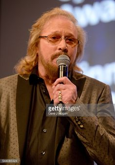 Barry Gibb on stage during the Nordoff Robbins O2 Silver Clef Awards on July 1, 2016 in London, United Kingdom.