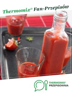 Truskawkowe shoty by Thermomix on www. Hot Sauce Bottles, Food And Drink, Pudding, Stuffed Peppers, Vegetables, Drinks, Thumbnail Image, Thermomix, Foods