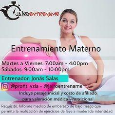 @profit_vzla te ofrece la oportunidad de llevar un embarazo sano y en forma.  Para esas embarazadas que desean mantenerse activa saludable y en buen estado físico te traemos está nueva alternativa ENTRENAMIENTO MATERNO desde las instalaciones de @jairoentrename dirigido y supervisado por el Prof Jonás Salas @profit_vzla  Horarios de Martes a Viernes 7am a 4pm y los sábados 9am a 10am -- Requisito indispensable. INFORME MEDICO  que permita realizar actividad física de leve a moderada…