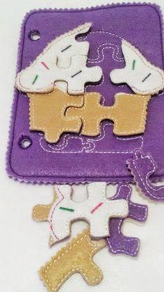 Cupcake felt puzzle quiet book addon page