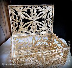 Всем приветы!!Закончила таки свою шкатулочку,которую пришлось отложить дабы успеть поучаствовать в конкурсе)))Вот,представляю её вам на суд;))Судите,обсуждайте,буду рада пообщаться)) фото 8 Sisal, Bobbin Lacemaking, Jute Crafts, Silver Filigree, Quilling, Decorative Boxes, Container, Sketches, Homemade