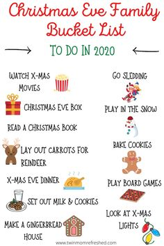 Christmas Eve Activities for Families in 2020