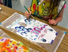 Cassie Stephens: In the Art Room: First Grade Koinobori for Children's Day!
