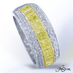 Fancy Yellow Diamond Wedding Band