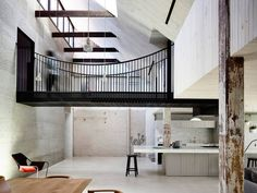 Home Tour: Melbourne Loft Like a new industrial skeleton within an old brick skin, this mini tour showcases a 250m2 warehouse conversion in inner-city Melbourne as a mixture of intimate spaces and open voids, family space and public face. I love the...