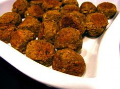 Mini Lenitl Meatballs. I just made these and they are amazing! I even tricked my anti vegetarian 10 year old into thinking they were real!