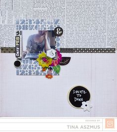 This lovely layout by Tina Aszmus used the Capture 2 collection from Basic Grey.