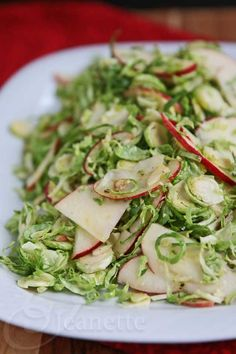 Tangy Brussels Sprout Apple Salad