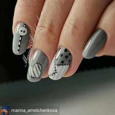 Ideas fails design lines polish Fancy Nails, Cute Nails, Pretty Nails, Halloween Nail Designs, Halloween Nails, Romantic Nails, Valentine Nail Art, Round Nails, Disney Nails