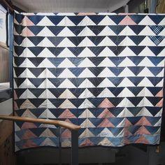 The enormous #flyinggeese #denim #vintagelinens #sashiko #quilt #quilting #toiledechine  #toomuchwork