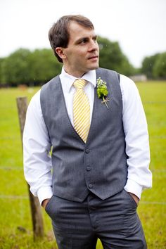 Southern Florida Wedding, groomsmen, boutonnieres, yellow and gray wedding, MaryFieldsPhotography_TX  Photo By Mary Fields Photography