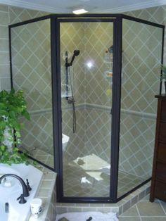 Framed Shower Door, Atlanta, Georgia - Photo 5 #ShowerDoor #HomeImprovement #Atlanta #BathroomRemodel #InteriorDesign #WalkInShower Framed Shower Door, Glass Shower Doors, Atlanta, Shower Enclosure, Walk In Shower, Home Improvement, Houses, Interior Design, Photos