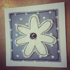 Flower Applique Card