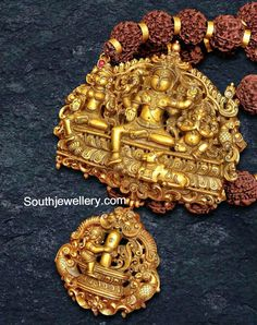 Rudraksh Necklace with Stunning Nakshi Pendant
