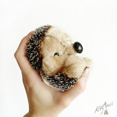 Hedgehog Forest Friend 12cm by KittyAprilHandmade on Etsy, $60.00