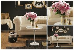 black white and pink home decor - Google Search