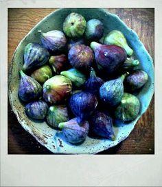 CERAMIC FIGS*  Blues, blue greens, blue purples, purple greens, lavender blues, lavender purples, lavender mauve, pale greens, pale blues / figs.  Graduate colors
