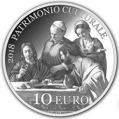 "10€ in argento ""Anno Europeo del Patrimonio Culturale"" Caravaggio, Cena in Emmaus https://www.facebook.com/photo.php?fbid=538306176526307&set=a.538306159859642.1073741836.100010407882369&type=3&theater"