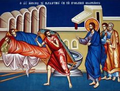Sunday of the Paralytic Very Nice Pic, Life Of Christ, Jesus Cristo, Sacred Art, Christian Faith, Sunday School, Icons, Byzantine, School Ideas