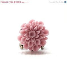 Vac Sale Will Ship 8/19 Pink Mum Ring Antique by GirlBurkeStudios, $9.00