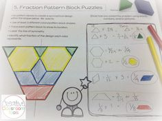 Using pattern blocks to teach fractions! How fun! $$