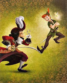 "disneygoldmine: "" Heroes Vs. Villains Disney Store Collection Artwork """