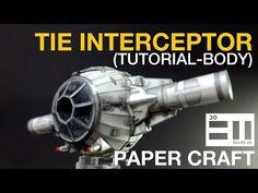 TIE interceptor (step by step tutorial-Body) - YouTube
