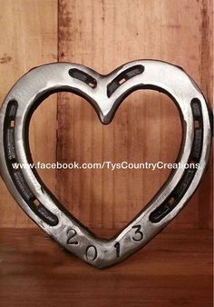 Horseshoe Heart wall hanging small by TysCountryCreations on Etsy, $44.00