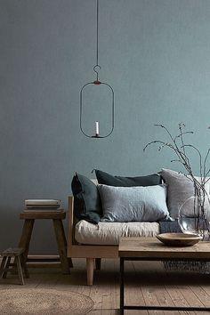 77 Gorgeous Examples of Scandinavian Interior Design Grey-and-blue-Scandinavian-living-room - Modern Living Room Grey Interior Design, Scandinavian Interior Design, Interior Design Inspiration, Interior Styling, Room Inspiration, Design Ideas, Design Trends, Color Trends, Room Interior