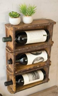 Home Accessories: Brick Mold Hanging Wine Rack : 13x17in