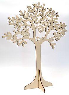 Dřevěný výřez dekorační strom s ptáčkem